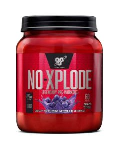 BSN N.O.-XPLODE Pre-Workout Supplement with Creatine, Beta-Alanine, and Energy, 60 Servings