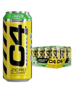Cellucor C4 Original Carbonated Zero Sugar Energy Drink, Pre Workout Drink + Beta Alanine,16 Fl. Oz (Pack of 12 )