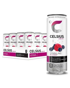 Celsius Fitness Drink, Zero Sugar, 12oz. Slim Can (Pack of 12)