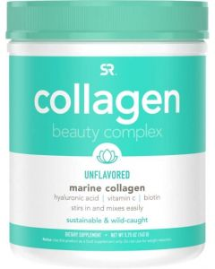 Sports Research Marine Collagen Beauty Complex with Vitamin C, Biotin, & Hyaluronic Acid (163g, 30 Serving) - Hydrate, Glow-Up, and Boost your Hair, Skin & Nails