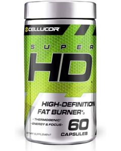 Cellucor SuperHD Thermogenic Fat Burner Weight Loss Supplement, Appetite Suppressant, & Energy Booster Capsimax, Green Tea Extract, 160mg Caffeine & More 60 Capsules