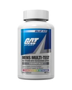 GAT Mens Multi + Test, Multivitamin with Testosterone Support (150 Tablets)
