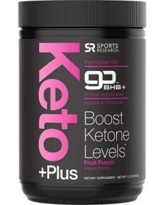 Keto Plus™ Exogenous Ketones (goBHB™) - 30 Servings | Formulated for Ketosis, Energy and Focus | Keto Certified, Vegan Friendly (Fruit Punch)