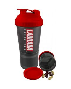 Labrada Nutrition 3 in 1 Shaker Bottle Red