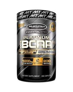 MuscleTech Platinum Essential series, 8:1:1 BCAA Formula - 200 Caplets