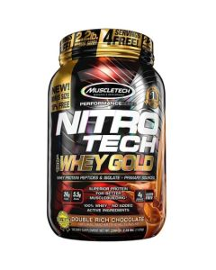 MuscleTech Nitro Tech 100% Whey Gold Muscle Building Powder