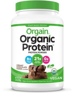 Orgain, Organic Protein Plant Based Powder, Creamy Chocolate Fudge, 2.03 Lbs (920 G)