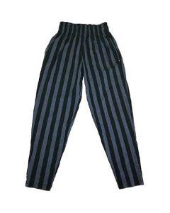 Otomix Bodybuilding Baggy Gym Pant - Charcoal Stripe-L