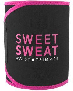 Sweet Sweat Waist Trimmer - Black/Pink | Premium Waist Trainer Sauna Belt for Men & Women