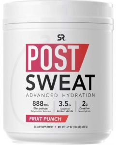 Post Sweat Advanced Hydration Post-Workout Supplement Powder | Muscle Recovery Sports Drink with Electrolytes + 9 Essential Amino Acids | Informed Choice Sport Certified & Non-GMO (Fruit Punch)