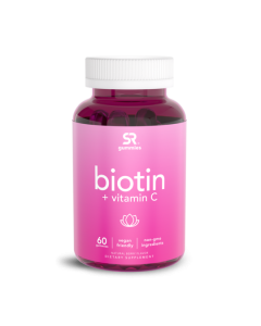 Sports Research Biotin 5,000mcg + Vitamin C 90mg Gummies